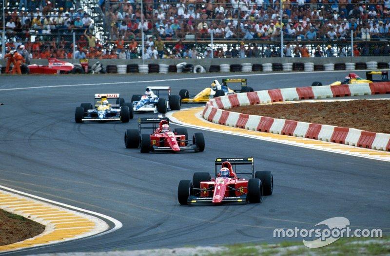 10: Nigel Mansell & Alain Prost (Ferrari)