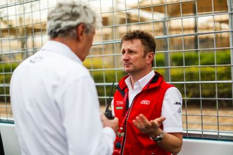 Allan McNish, Team Principal, Audi Sport Abt Schaeffler on the grid