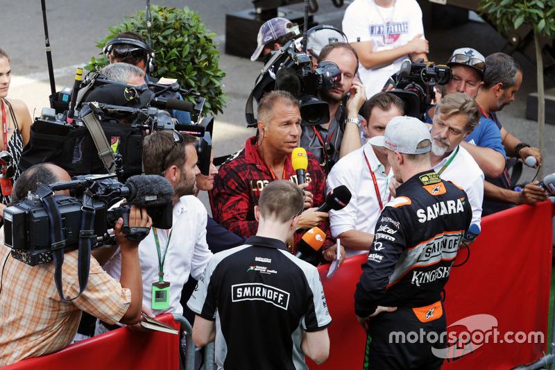 Nico Hulkenberg, Sahara Force India F1 ve Kai Ebel, RTL Sunucusu