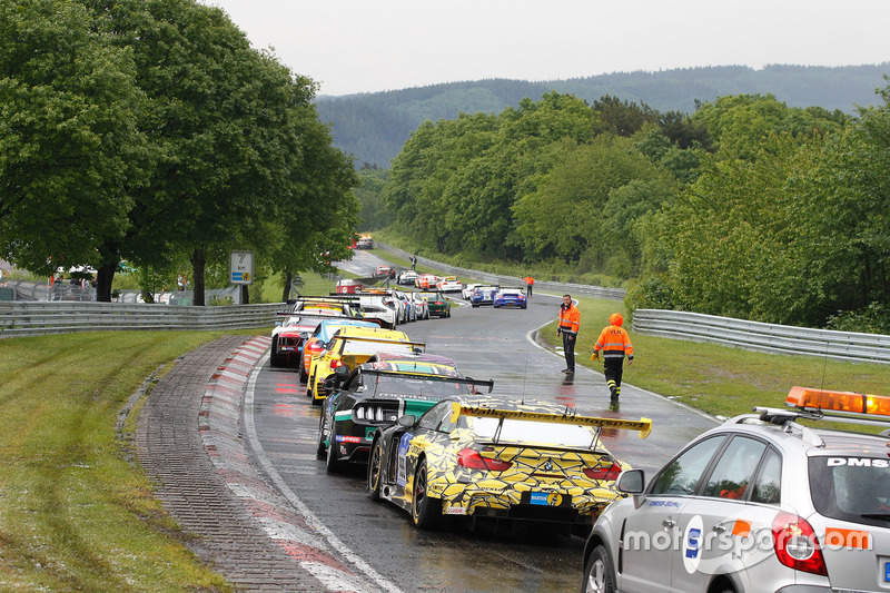 Rennunterbrechung am Nürburgring