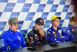 Maverick Viñales, Team Suzuki MotoGP; Dani Pedrosa, Repsol Honda Team; Valentino Rossi, Yamaha Factory Racing