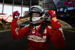 Sebastian Vettel, celebrates his win for Team Germany
