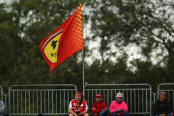 Ferrari fans and flags