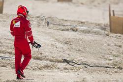 Kimi Raikkonen, Ferrari, torna al box