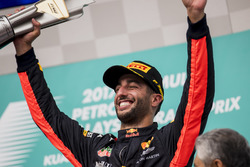 third place Daniel Ricciardo, Red Bull Racing on the podium