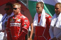 Lewis Hamilton, Mercedes AMG F1, Kimi Raikkonen, Ferrari, Sebastian Vettel, Ferrari, Valtteri Bottas, Mercedes AMG F1