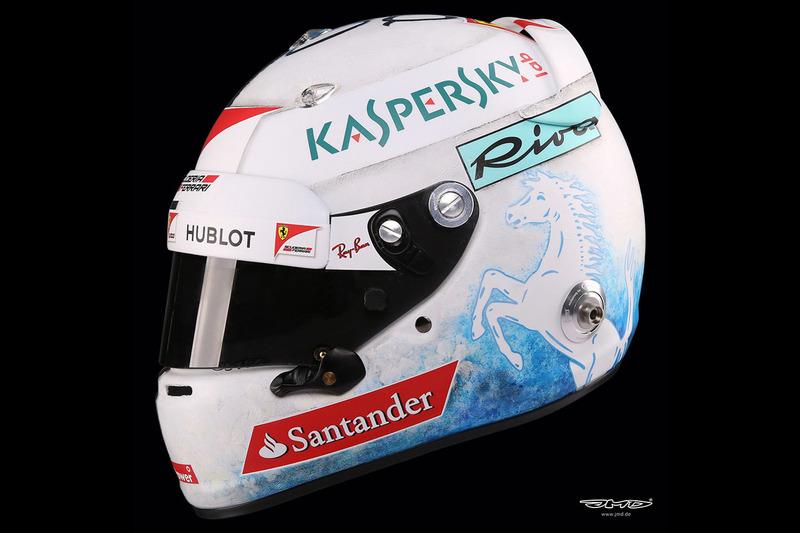 Vettel's helmet design detail
