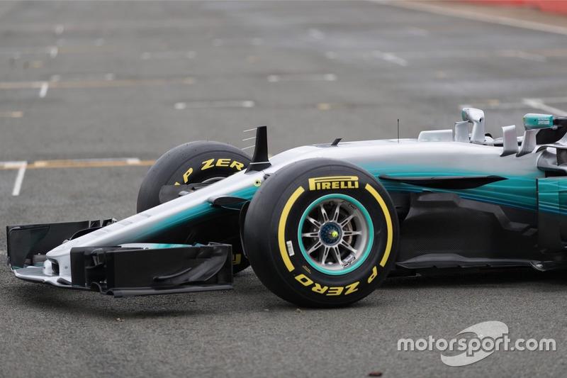 Mercedes AMG F1 W08 Hybrid, передняя часть машины
