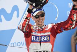 Podium: third place Jorge Lorenzo, Ducati Team