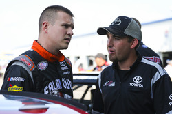 Ryan Preece, Joe Gibbs Racing Toyota and crewman