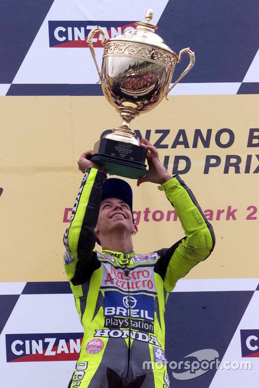 Podium: race winner Valentino Rossi, Honda