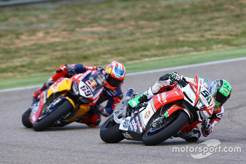 Eugene Laverty, Milwaukee Aprilia World Superbike Team; Nicky Hayden, Honda World Superbike Team