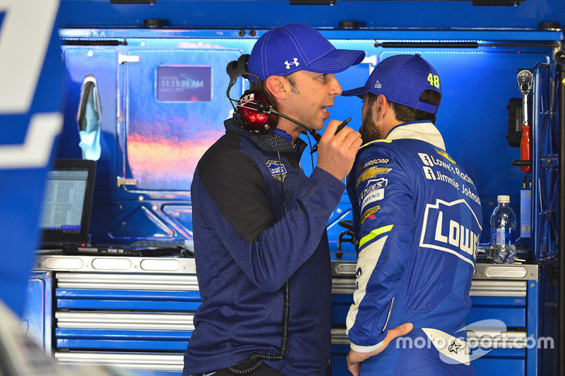 Jimmie Johnson, Hendrick Motorsports Chevrolet, crew chief Chad Knaus