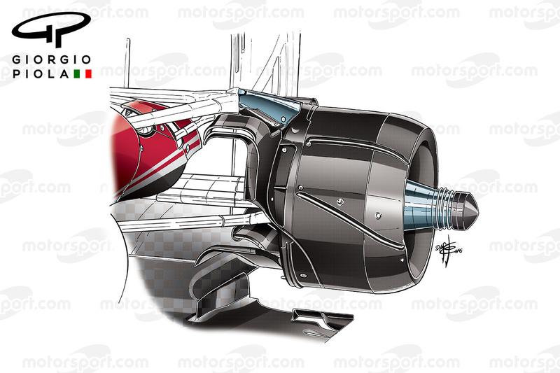 Ferrari SF16-H: Hinterradbremse, GP Brasilien