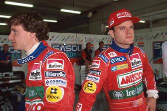 Eddie Irvine, Jordan; Rubens Barrichello, Jordan
