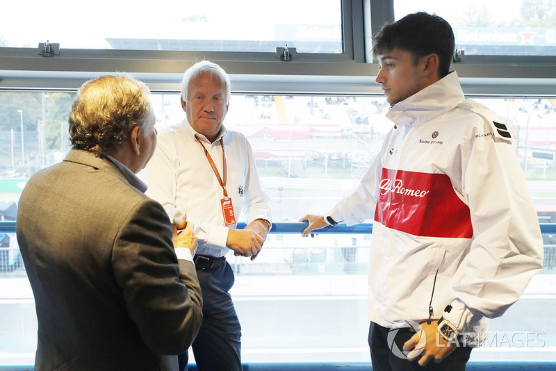 Charlie Whiting, Jean Todt, FIA President, Charles Leclerc, Sauber F1 Team
