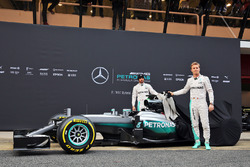 Nico Rosberg, Mercedes AMG F1 Team, Lewis Hamilton, Mercedes AMG F1 Team unveil the Mercedes AMG F1 W07