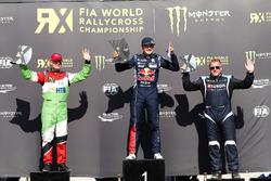 Podium Euro-Cup: Race winner Kevin Hansen, Peugeot Hansen Academy