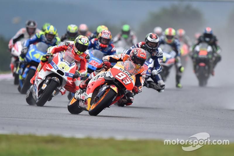 Marc Marquez, Repsol Honda Team al comando alla partenza