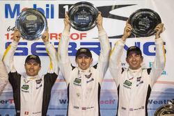 GTLM podium: winners Oliver Gavin, Tommy Milner, Marcel Fässler, Corvette Racing