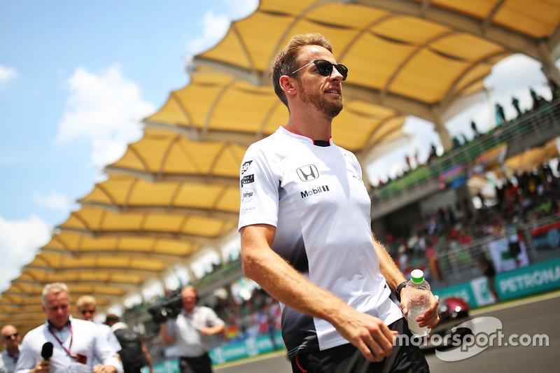 Jenson Button, McLaren on the drivers parade