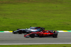 Sebastian Vettel, Ferrari SF70H and Felipe Massa, Williams FW40