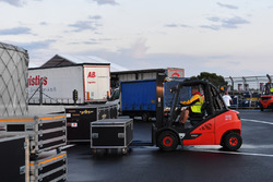 DHL Forklift and freight
