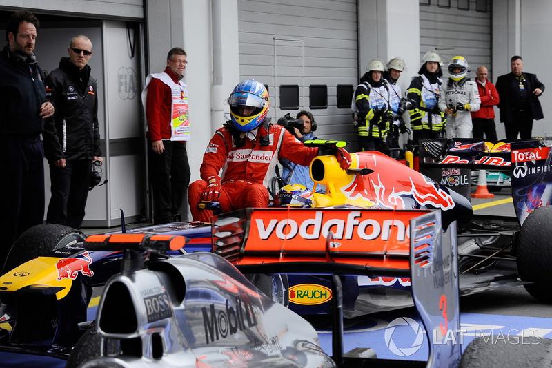 2011 Nürburgring: Mark Webber, Fernando Alonso