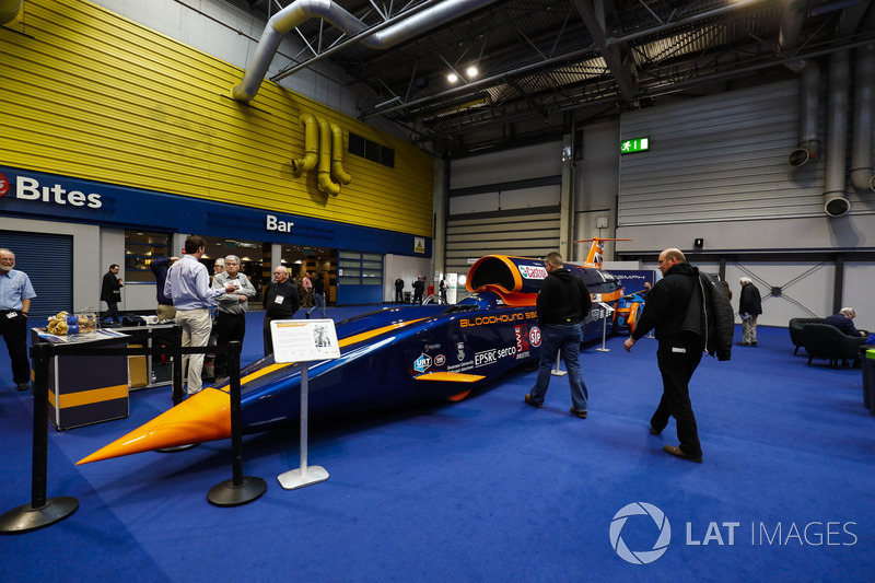 The Bloodhound landspeed record car on display