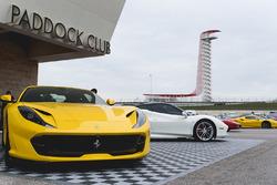 Ferraris in the paddock