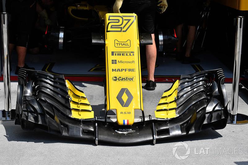 Sayap depan Renault Sport F1 Team R.S. 18