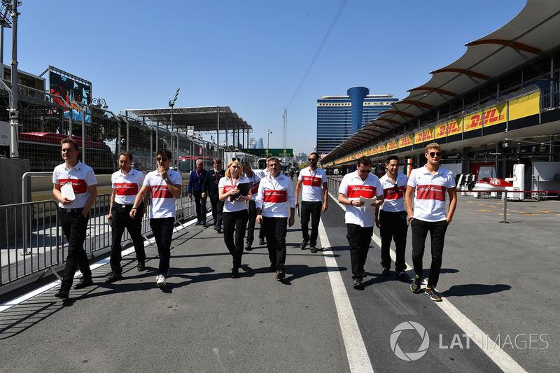 Marcus Ericsson, Sauber, Charles Leclerc, Sauber
