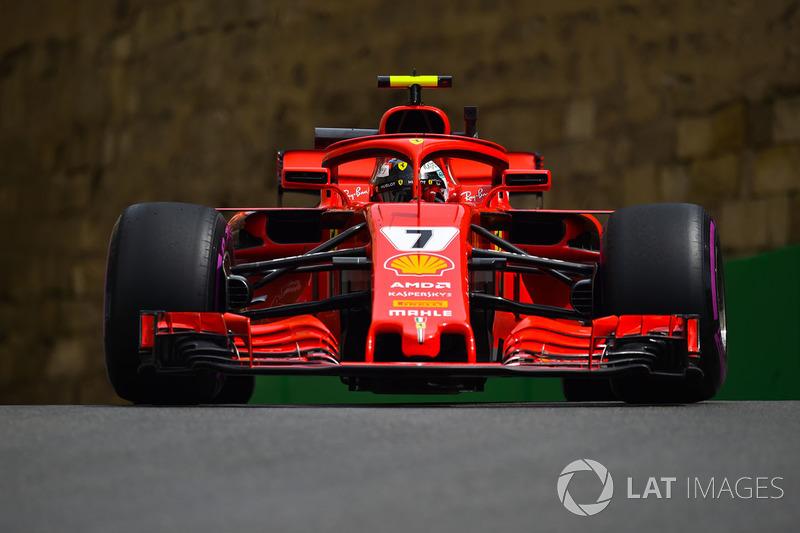 6: Kimi Raikkonen, Ferrari SF71H, 1'42.490