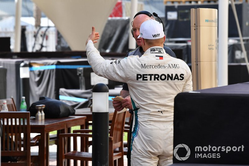 Valtteri Bottas, Mercedes AMG F1 and Pirelli engineer