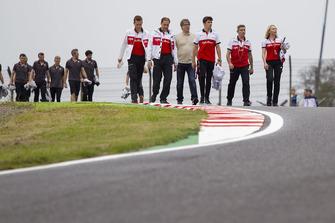 Charles Leclerc, Sauber on track walk