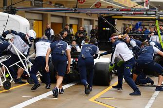 Williams Racing practice pit stop