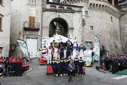 Podio: Paolo Andreucci e Anna Andreussi, Peugeot 208 T16, Peugeot Sport Italia, Giandomenico Basso e Lorenzo Granai, Ford Fiesta R5 LDI, BRC, Alessandro Perico e Mauro Turati, Peugeot 208 T16, P.A. Racing
