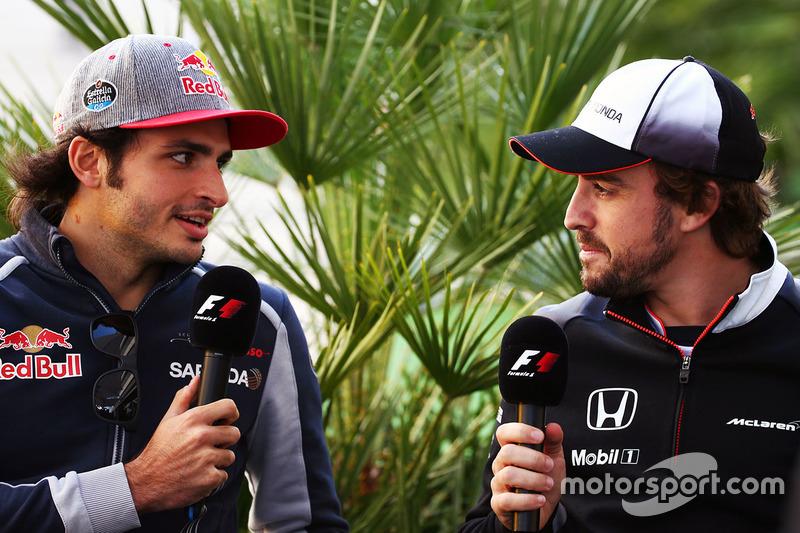 Carlos Sainz Jr., Scuderia Toro Rosso and Fernando Alonso, McLaren