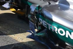 Vertikale Seitenboards, Mercedes AMG F1 W07 Hybrid