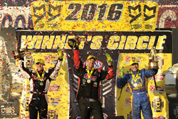 Pro Stock winner Greg Anderson, Funny Car winner Ron Capps, Top Fuel winner Steve Torrence