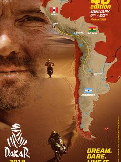 Die Route der Rallye Dakar 2018