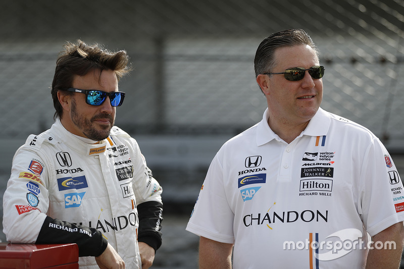 Zak Brown, directeur exécutif McLaren, Fernando Alonso, Andretti Autosport Honda