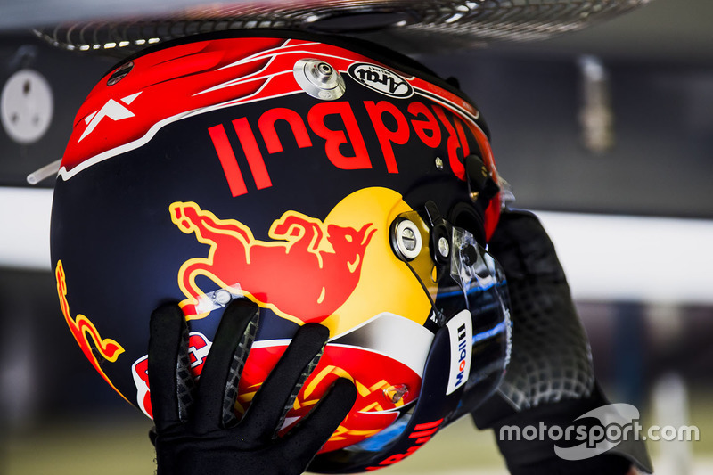 The helmet of Max Verstappen, Red Bull