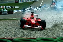 Аварія Міхаеля ШУмахера, Ferrari F1 2000, на старті