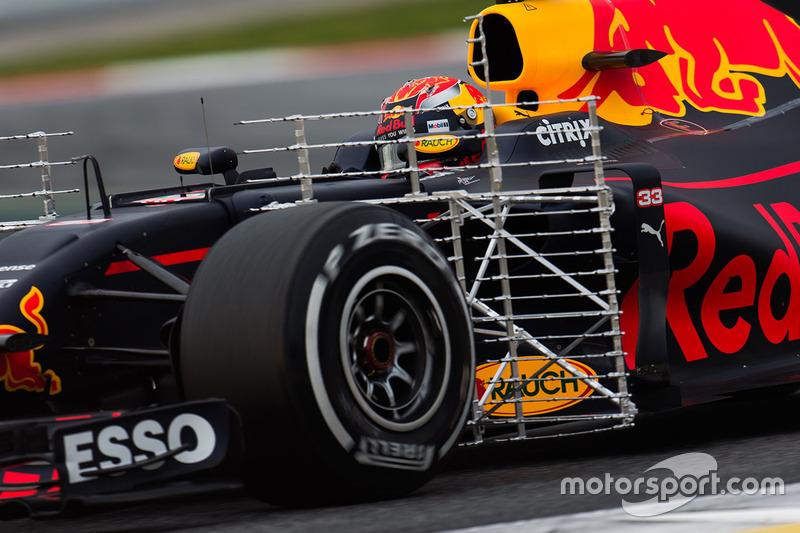 Макс Ферстаппен, Red Bull Racing RB13 із встановленим сенсорним обладнанням