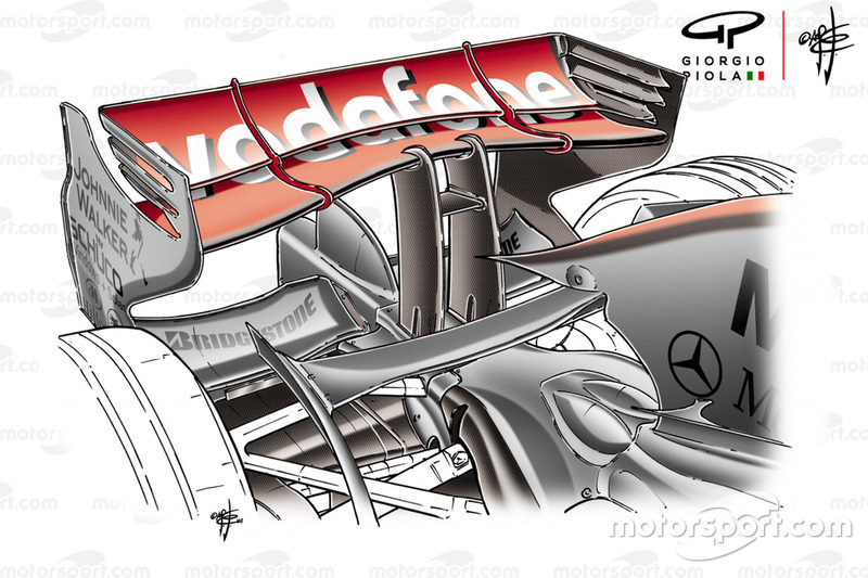 McLaren MP4-23 2008 Montreal rear wing
