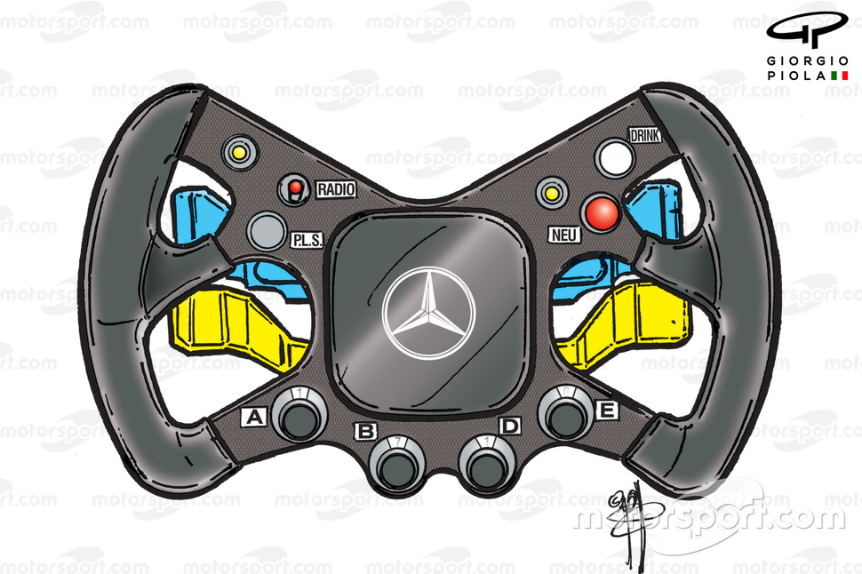 McLaren MP4-15 2000 Hakkinen steering wheel