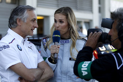 Charly Lamm, Team manager BMW Team Schnitzer and Eve Scheer