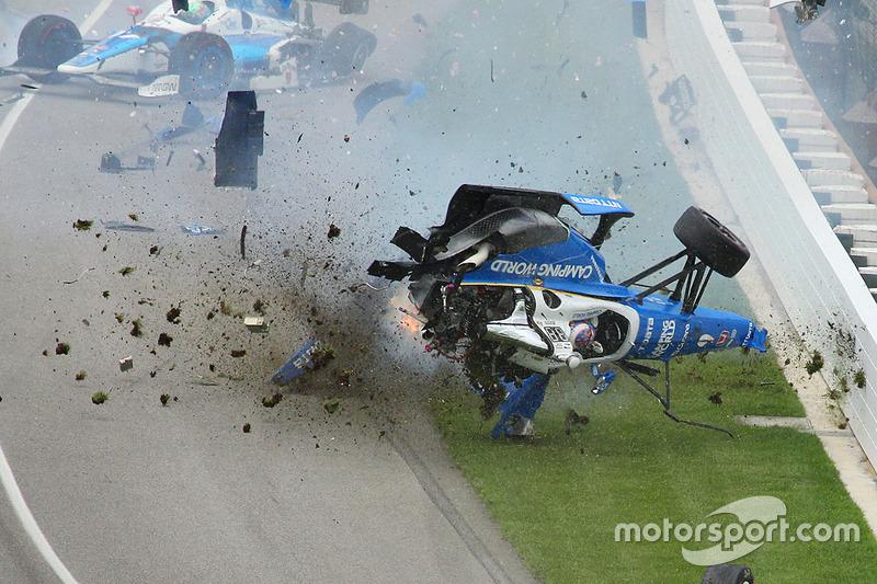 Choque de Scott Dixon, Chip Ganassi Racing Honda