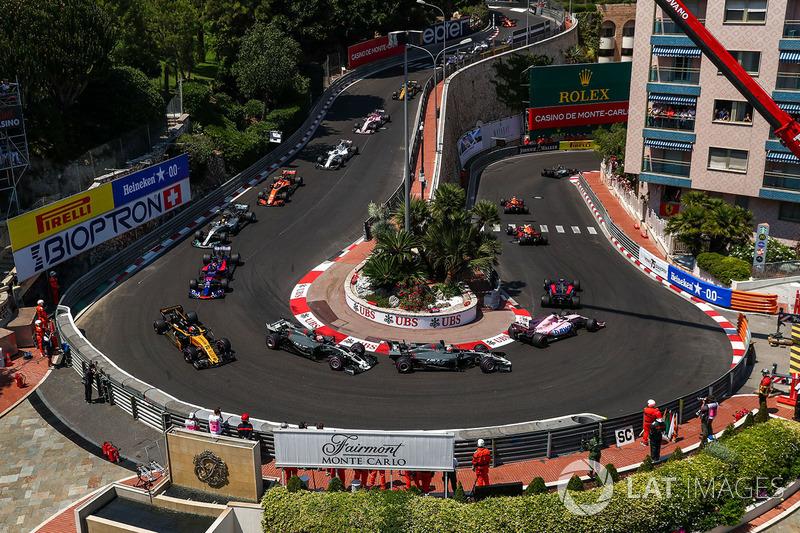 Solo 40 km/h es la velocidad de los coches de Fórmula 1 en la horquilla del Grand Hotel. Este es el sector más lento del mundial.